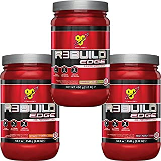 BSN Rebuild Edge 450G 3 in 1 Post Workout Stack - R3Build ( Includes Creatine, Glutamine & BCAA ) (Cranberry Limeade)