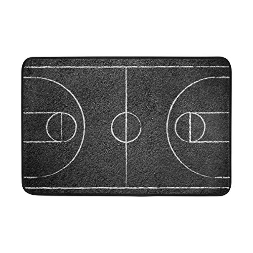 COOSUN Street Basketball Court Fußmatte, Eintrag Weg Indoor Outdoor Tür Teppich mit Non Slip Backing, (23,6 von 15,7-Zoll)