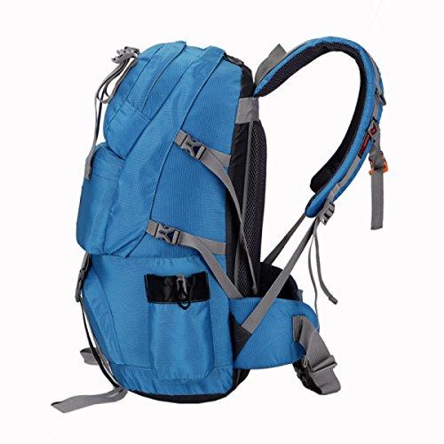 Outdoor Wasserdicht Leicht Rucksack Beruflich Bergsteigen Reisen Tasche Blue
