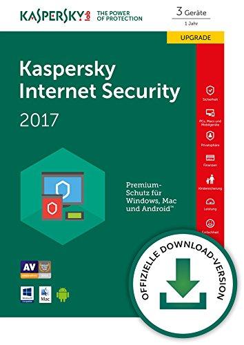 Kaspersky Internet Security 2017 3 Geräte Upgrade [Download]