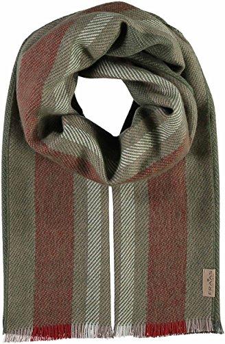 FRAAS Herren Streifen-Design Schal, Grün (Olive 760), One Size -