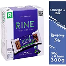 RINE Bars Sugar Free Granola and Cereal Bars for Breakfast & Snacks, Blueberry Bolt (Pack of 6)