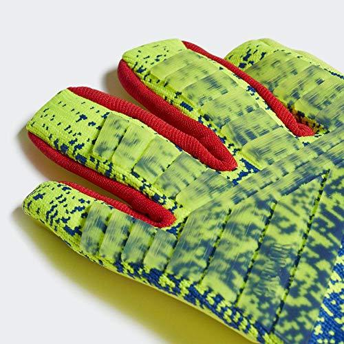 adidas Pred Pro Torwarthandschuhe, Unisex, Erwachsene 4XL Gelb/Rot/Blau (solar Yellow/Bold Blue/Active red)