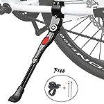 """51fvr 9qtXL. SS150 Cavalletto Bici, Regolabile Alta qualità Alluminio Lega Cavalletto laterale per 24""""-27"""" mountain bike, bici da strada…"""