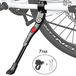 """51fvr 9qtXL. SS300 Cavalletto Bici, Regolabile Alta qualità Alluminio Lega Cavalletto laterale per 24""""-27"""" mountain bike, bici da strada…"""