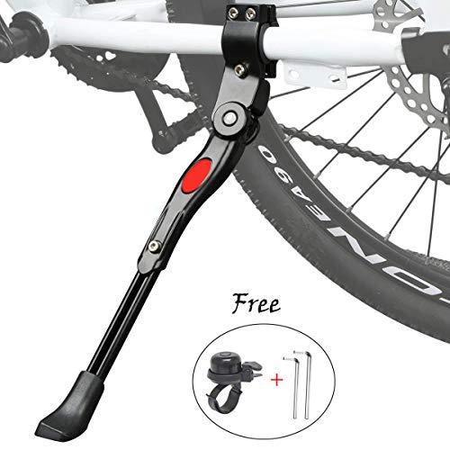 ZFYQ Pata de Cabra para Bicicleta, XiDe Aluminio Soporte Ajustable del Retroceso de Bici Caballete Bicicleta con Llave Hexagonal y Campana De Bicicleta