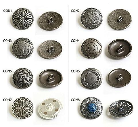 Concho Button Stein 1 Stück ca. 23 mm