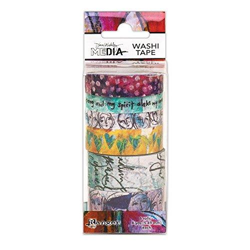 Ranger Dina Wakley Media Washi Tape # 1, Papier, Mehrfarbig, 13x 5,2x 5,2cm (Misst Gesicht)