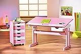 Links 99800350 Kinderschreibtisch Schülerschreibtisch Schreibtisch Kinderzimmer Tisch, rosa - 15