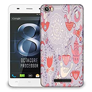 Snoogg White Pigeon Designer Protective Phone Back Case Cover For Lava Iris X8