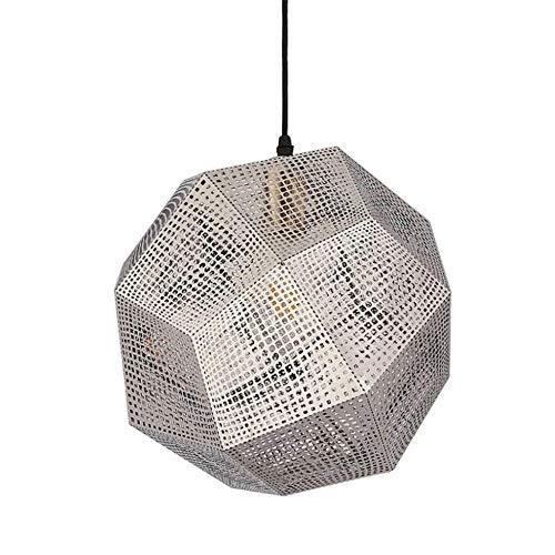 MASOSER Facettenreiche Kugel Deckenleuchte, Chrom poliert zeitgenössische geometrische Kronleuchter Beleuchtung Edelstahl funkeln Kronleuchter (Color : Chrome-32cm) -