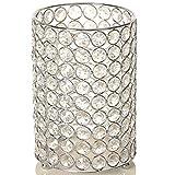 VINCIGANT Weihnachten Kerzenständer Vase Silber/Kerzenhalter für Stumpenkerzen Dekoration Wohnung modern mit Schnurlicht