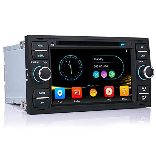 "iFrego 7\"" HD Autoradio DVD Player GPS Navigation 3G RDS SD Bluetooth Touchscreen mit sat NAV GPS Navigation für Ford C-Max/Galaxy/Connect/Kuga/Fiesta/S-Max/Focus/Transit/Fusion/Mondeo"