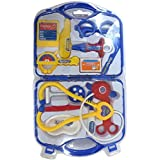 Doctor Play Set Little Leaf My Family Operated Mini Doctor Set, Multi Color(Red,Pink And Blue) (BLUE)