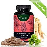 Voluptatum Komplex | Maca - Tribulus Terrestris - Red Panax Ginseng | 120 hochdosierte Kapseln | Hochwertige Extrakte | Potenz - Kraft - Energie | Nur 1 Kapsel pro Tag | Vegavero: from Nature-with Passion-for You!