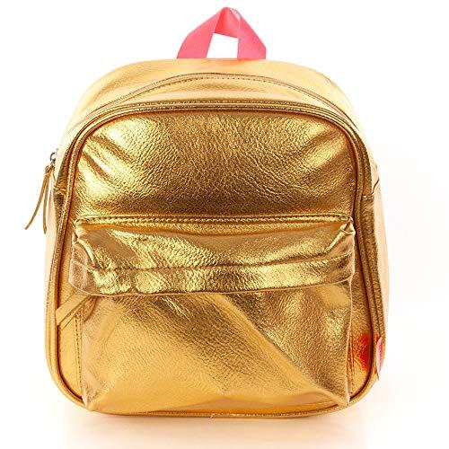 Rucksack Gold - Goldfarbige Rucksack - Kinder Rucksack - Metallic Tasche 10L - 28x13x27cm - Wasserdicht