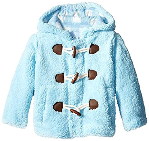 Wippette Little Boys' Plaid Wooly Fleece Jacket Hooded Sherpa Toggle