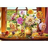 Greatmin Kit de broderie diamant à faire soi-même Multicolore Motif fruits et fleurs 40 x 30 cm