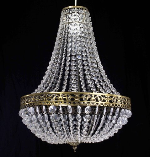 chandelier-style-clear-acrylic-antique-brass-ceiling-light-shade-easy-fit-pendant