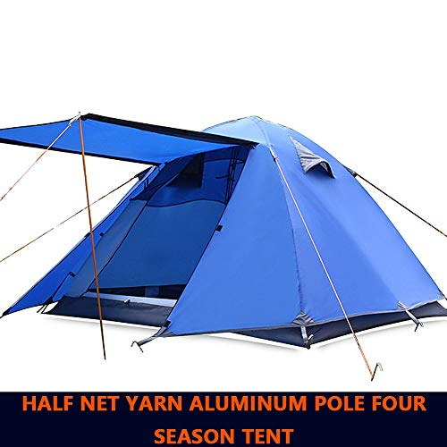 COKECO Zelt für 3 bis 4 Männer Automatische Öffnung Zelt Ultra Large Wasserdichtes Kuppelzelt UV-geschützte Tunnel Zelt Camping Zelt Familienzelte