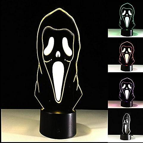 ZXZ-GO Halloween 3D LED Glow Table Lamp 3D Night light Décoration intérieure