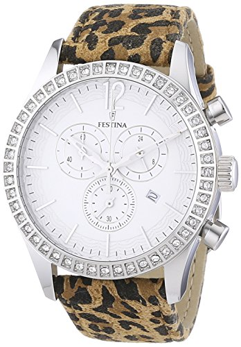 Festina Chrono Bike 2012 Women's Quartz Watch with White Dial Chronograph Display and Multicolour Leather Strap F16590/5