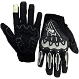 Pitzo Axe Racing Full Finger Riding Gloves (Black, Large)