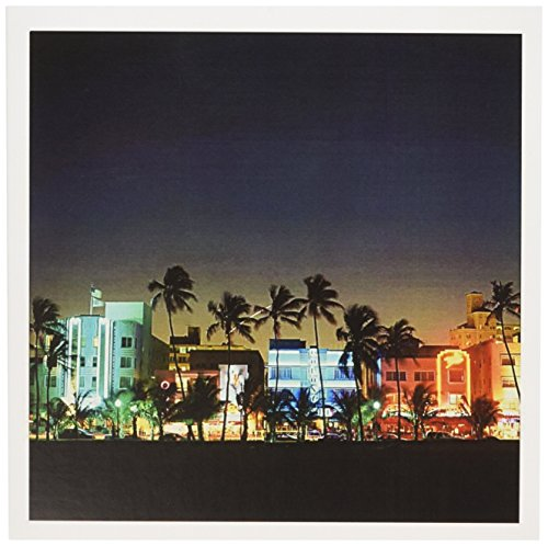 USA, Florida, Miami Beach, ocean Drive, Art Deco Hotels - Grußkarten, 15,2 x 15,2 cm, Set 6 (GC 192146 _ 1)