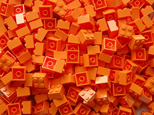 LEGO Bricks: Orange 2x2. Part 3003 (X 50) by LEGO (Lego Star Wars Sets $50)