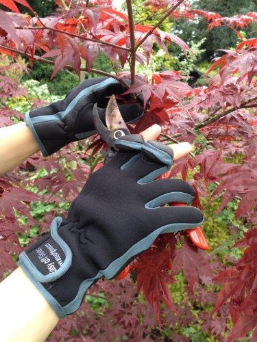 Neopren-Handschuhe mit Klettverschluss (umklappbares Fingerspitzenteil) von Easy Off Gloves –ideal zum Reiten, Schießen, Angeln, Radfahren, für Gartenarbeit, Fotografie, Heimwerker und als allgemeine Arbeitskleidung. (EU 11–XL) - 4