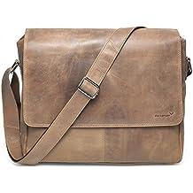 """Packenger Vethorn Messenger Bag Umhängetasche oder Notebooktasche mit Notebook-Fach bis 15"""" in verschiedenen Farben"""