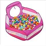 LXLX Baby Laufstall Kinder Ball Pit Große Pop Up Kleinkind Ball Gruben Zelt für Kleinkinder Mädchen Jungen für Indoor Outdoor (Blau/Rosa) (Farbe : Pink, größe : 100 balls)