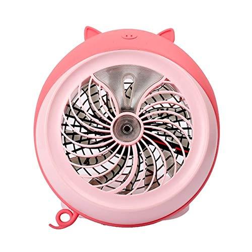 WFSM Spray USB Fan Desktop Wiederaufladbare Faltlüfter Spray Luftfeuchtigkeit Mini Geschenk Kleiner Fan Pink (Fan-pink Kleine)