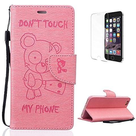 Housse iPhone 6 Plus/6S Plus Coque en Cuir avec [Gratuit Protections D