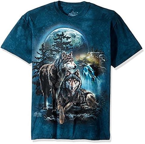 The Mountain mens Wolf Lookout T-shirt Short Sleeve T-Shirt  - green -