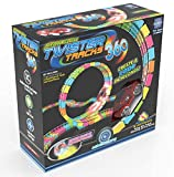 Mindscope Twister Tracks Trax 360 Loop 15' (feet) of Neon Glow in the Dark Track with Two Light-Up (Pulse LED) Vehicles Sports Car Series by Mindscope