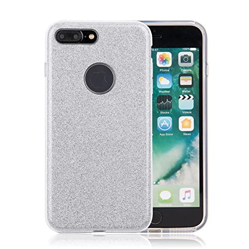 """iPhone X Case, VMAE Full Body Shiny Hybrid Case Soft TPU Hard PC 3in1 Untra Slim Protective Cover Shell for Apple iPhone X/iPhone 10 5.8"""" - SolidPurple SolidSilver"""