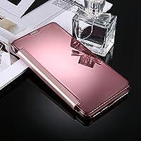 Housse Etui Coque Pour Samsung Galaxy C9 / C9 Pro, étui de protection arrière en miroir de galvanoplastie ( Color : Pink )