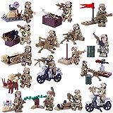 15000P 16St. Mini Figuren Set SWAT Team mit Militärwaffen Armee Soldaten Minifiguren Satz Bausteine für Kinder