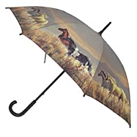 Artbrollie Band of Horses Stick Umbrella