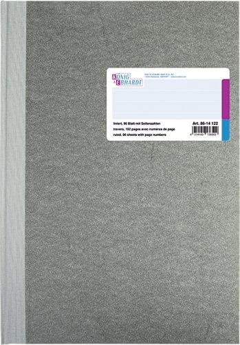 König & Ebhardt 8614122-601P96 Geschäftsbuch Deckenband (A4, liniert, 80 g/qm, 96 Blatt)