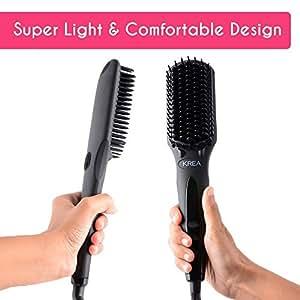 KREA Hair Straightener with 3D Mch Tourmaline Technology (S102)