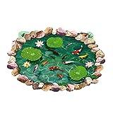 Hrph 3D Pool-Wand-Aufkleber Wasserdicht Lotus Pond Goldfisch für Kinder Badezimmer Haus Personalisierte Boden Wand-Aufkleber-Abziehbilder