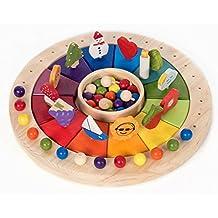 Calendario Anual Waldorf Montessori de 40 cm con figuras. Este tamaño de calendario es ideal para colegios