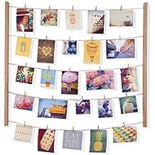 Umbra 315000-390 Hangit - Soporte para colgar fotos con listones de madera y cuerdas