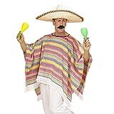 Widmann 4345P - Erwachsenenkostüm Mexicaner, Poncho, Einheitsgröߟe