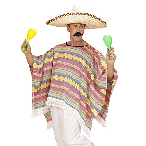 chsenenkostüm Mexicaner, Poncho, Einheitsgröߟe (Billig Kostüm Ideen Männer)