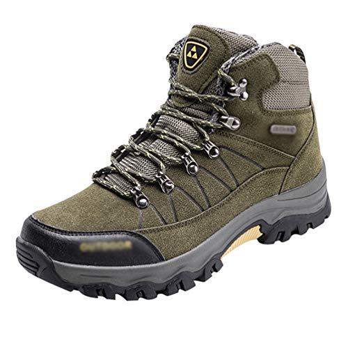 Yuanu Herren Wandern Schuhe Im Freien Wandern Hoch Professionelle Stoßfest Rutschfeste Outdoor-Sportschuhe Wanderschuhe Armee Grün 40