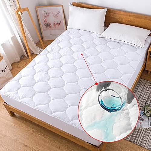 en-Auflage, Daunen-Alternative, gesteppt, hypoallergen, atmungsaktiv, Spannbetttuch, Matratzenbezug Full Waterproof ()