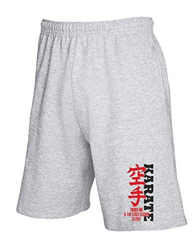 Cotton Island - Pantalone Tuta Corto TAM0039 first karate lesson is free white tshirt Grigio